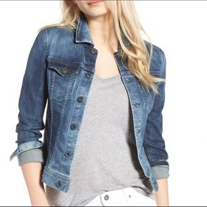 AG 'Robyn' Denim Jacket Distressed Stonewash NWOT
